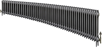 Eastgate Victoriana 3 Column 49 Section Cast Iron Radiator 450mm High x 2984mm Wide - Metallic Finish